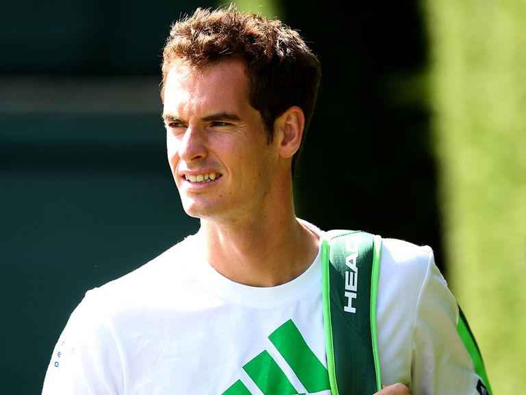 Andy Murray: Preparing for his next match at Wimbledon