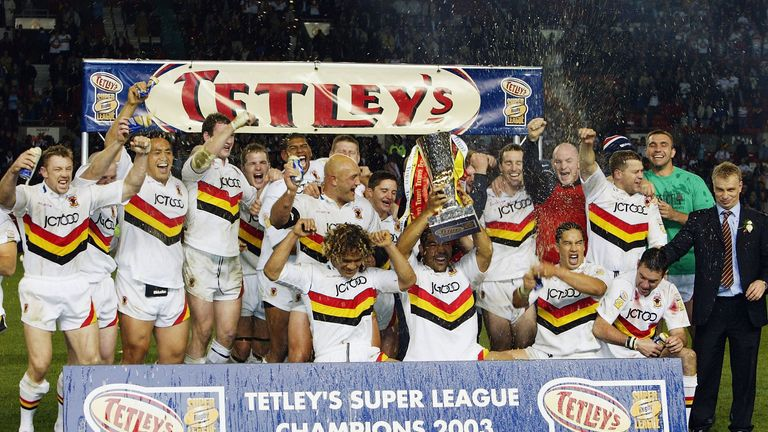Bradford were Super League champions in 2003 following a 25-12 win over Wigan