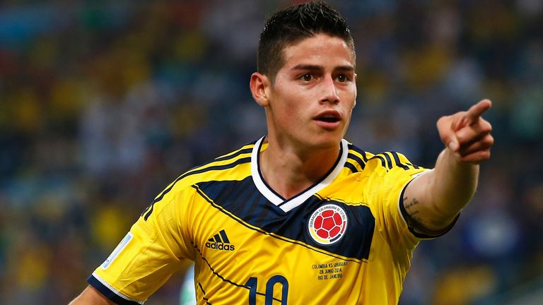 James Rodriguez has scored in each of Colombia's World Cup games