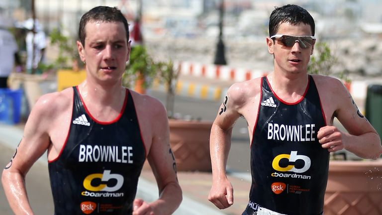 Jonny Brownlee (right): missed out on world title after being beaten by brother Alistair (left) in Edmonton