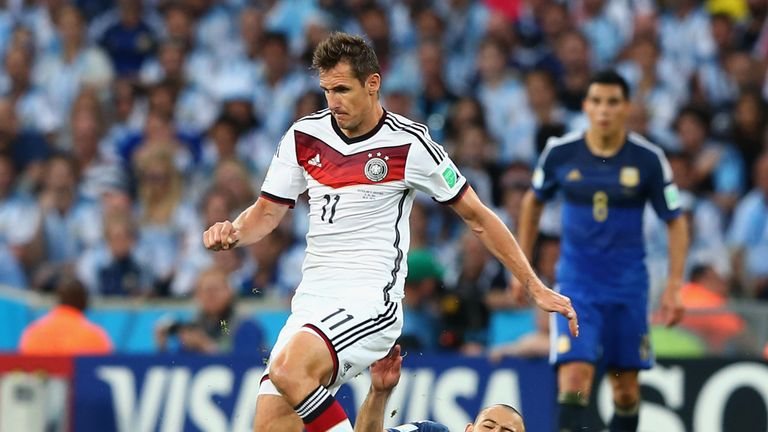 Miroslav Klose: Made way for Gotze with minutes remaining