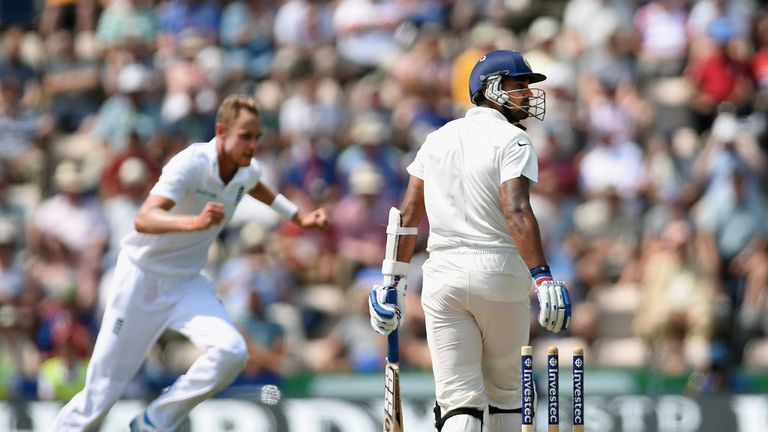 Broad: Bowled effectively in tandem with Anderson