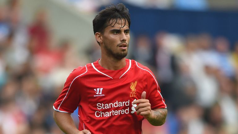 Suso began his career at Liverpool in 2012