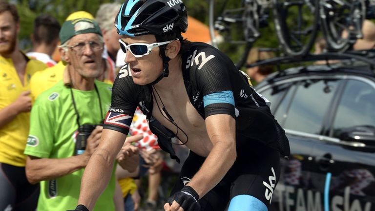 Geraint Thomas is hoping to give Team Sky something to celebrate at this year's Tour