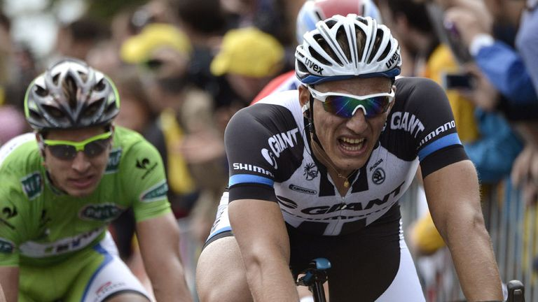 Kittel was made to work hard for his third win of the race
