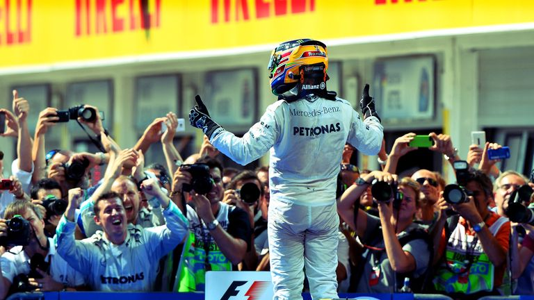 Lewis Hamilton: Victorious in 2013