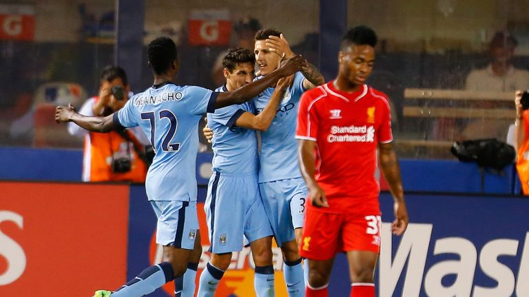 Jovetic: scored a brace during Wednesday's clash with Liverpool