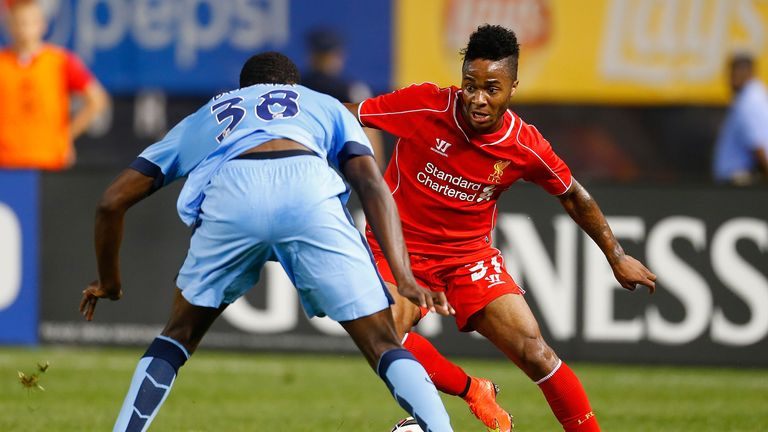 Sterling: scored Liverpool's second before Reds won friendly on penalties