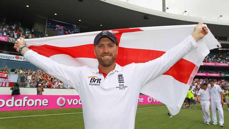 Matt Prior celebrates England's 3-1 Ashes win Down Under