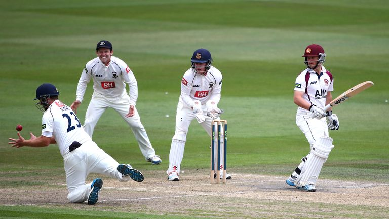 Ben Duckett: caught out by Chris Nash of Sussex during the match at Hove