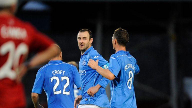 Mackay: Celebrates goal