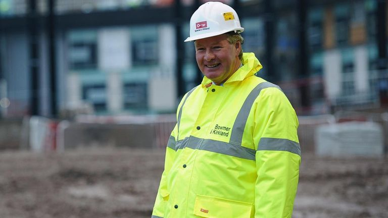 David Sheepshanks pictured during the building of the National Football Centre at St George's Park in 2011