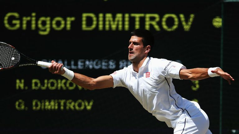 Novak Djokovic overcame Grigor Dimitrov in four sets to reach his third Wimbledon final