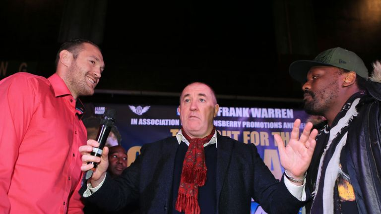 Tyson Fury and Dereck Chisora go head-to-head to promote their July 26 rematch