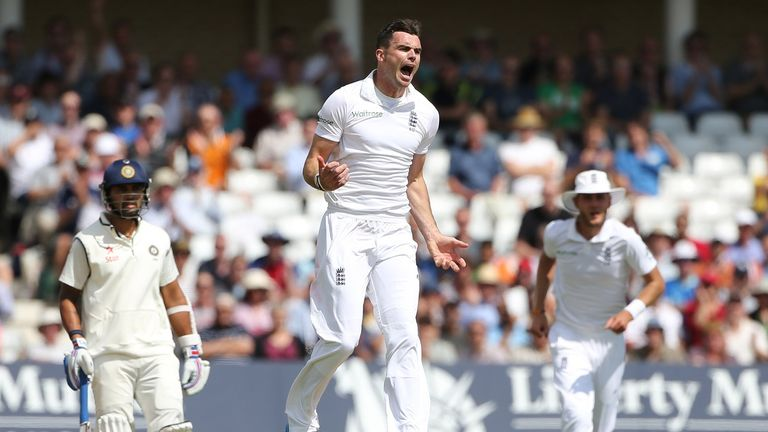 James Anderson: Dismissed Shikhar Dhawan to claim his 50th Test wicket at Trent Bridge