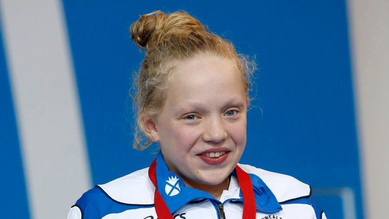 Erraid Davies: Bronze medallist in Glasgow for Scotland at the age of 13.
