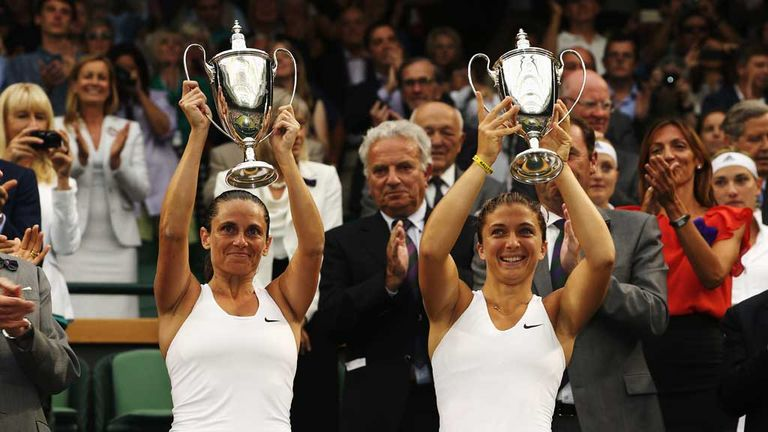 Italian pair Sara Errani and Roberta Vinci are Wimbledon women's doubles champions.