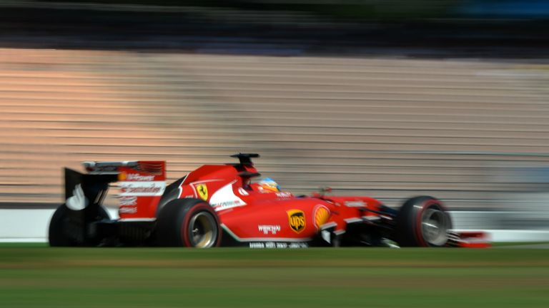 No FRIC on Ferrari: Fernando Alonso practices at Hockenheim