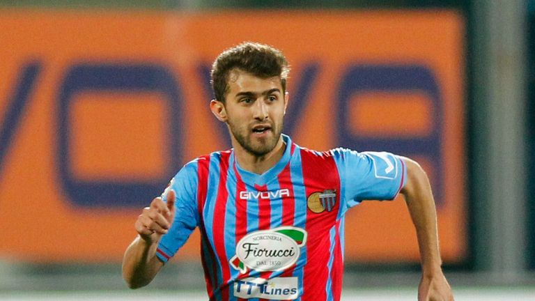 Gino Peruzzi: Catania defender has been linked with Arsenal