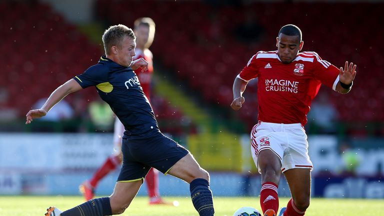 Louis Thompson: Will spend rest of the season with Swindon