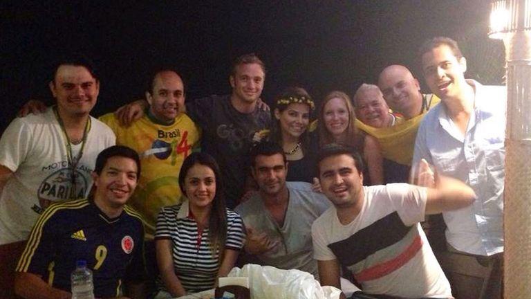 Enjoying the Rio hospitality