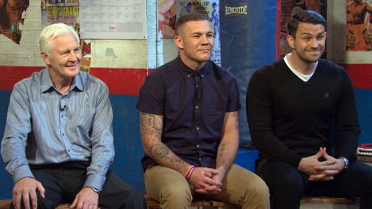 Ringside team: Messrs Watt, Moore and Smith sign off for the season