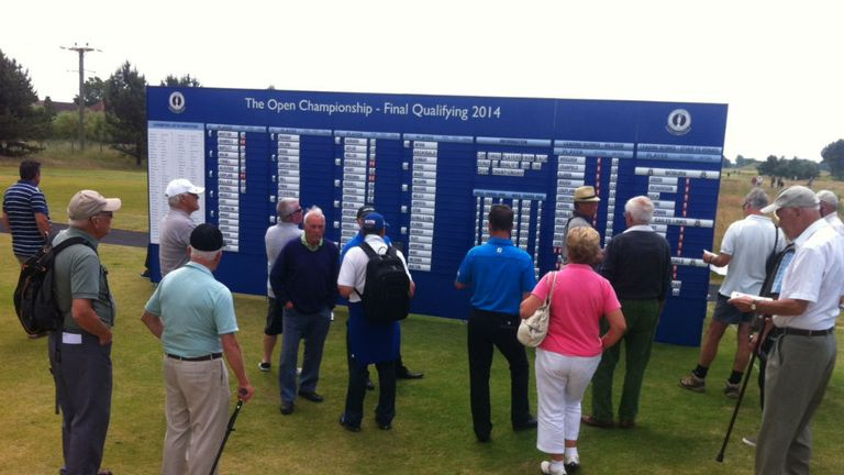The leaderboard proved a busy spot throughout the day as news slowly filtered through