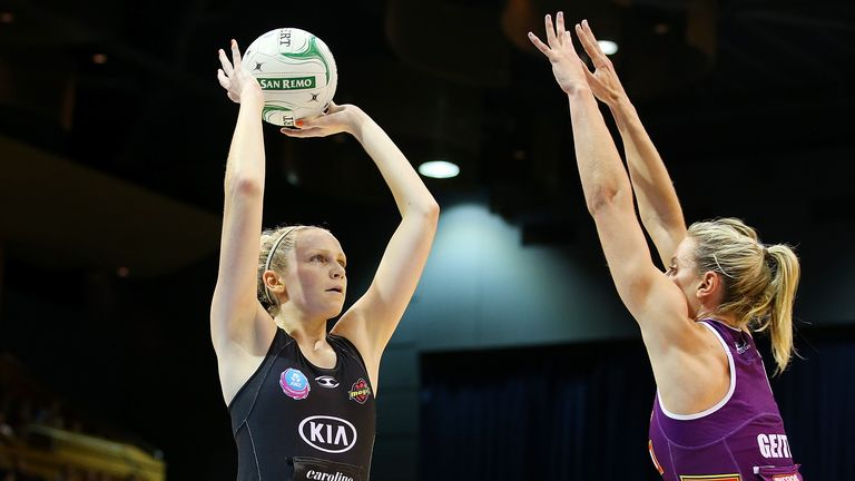 Magic: Jo in action for her New Zealand-based domestic club Wakato Bay of Plenty Magic