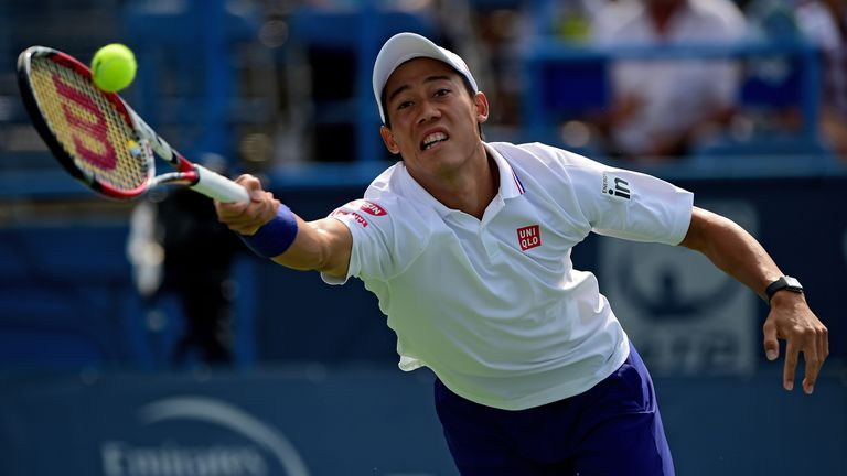 Kei Nishikori: Into the last eight at Flushing Meadows