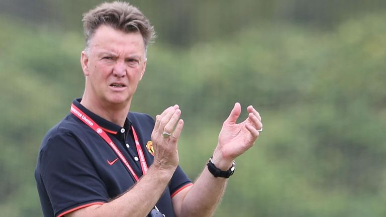 Louis van Gaal: Takes training in Los Angeles