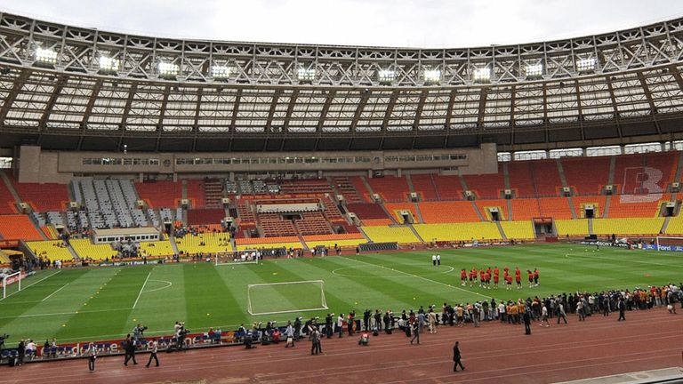 The Luzhniki Stadium in Moscow - chosen to host the 2018 World Cup final