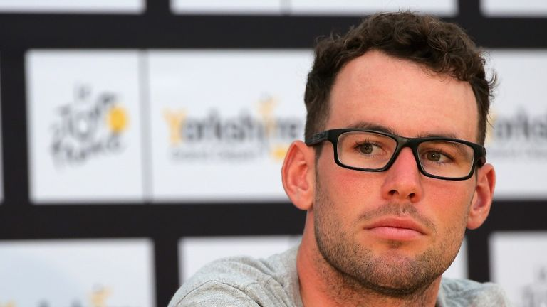 Mark Cavendish speaks to the media in Leeds ahead of Saturday's first stage of the Tour de France