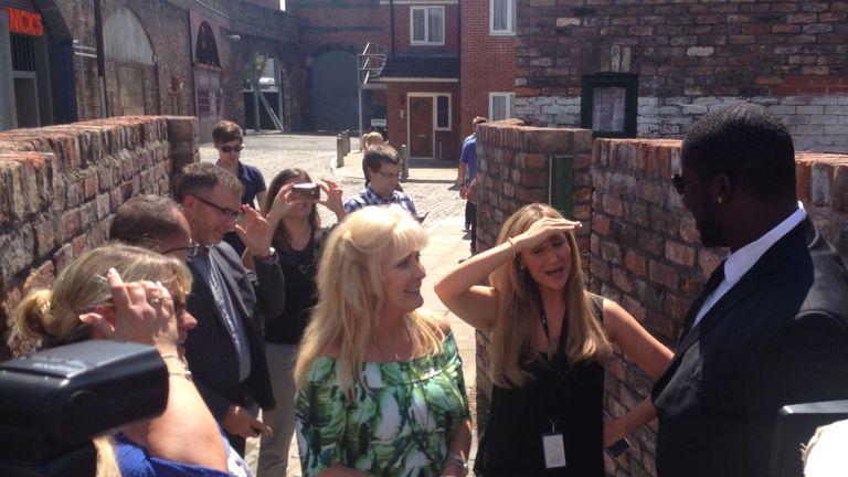 Menelik Watson: Visits the set of Coronation Street