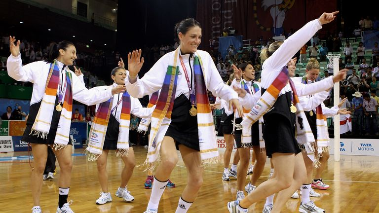 Silver Ferns: New Zealand celebrate their 2010 Gold medal win in Delhi