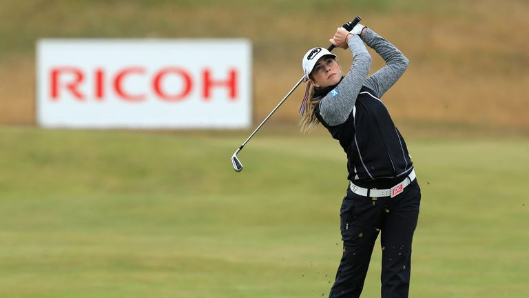 Paula Creamer in action during a practice round