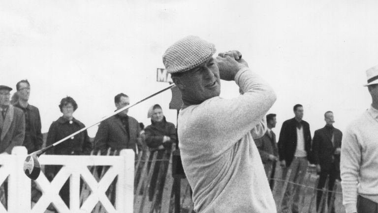 Peter Thomson sealed his hat-trick of Opens at Hoylake