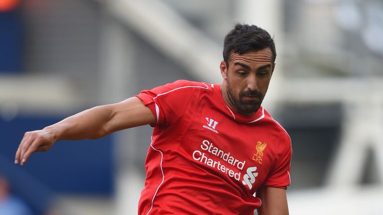 Jose Enrique in action during a pre season friendly against Preston at Deepdale