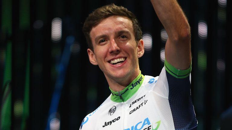 Simon at the Tour de France presentation ceremony in Leeds on Thursday