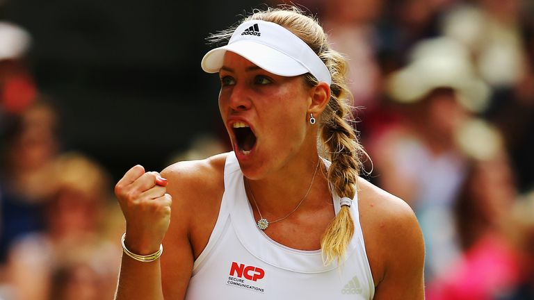 Angelique Kerber: Will take on Garbine Muguruza for a place in the semi-finals