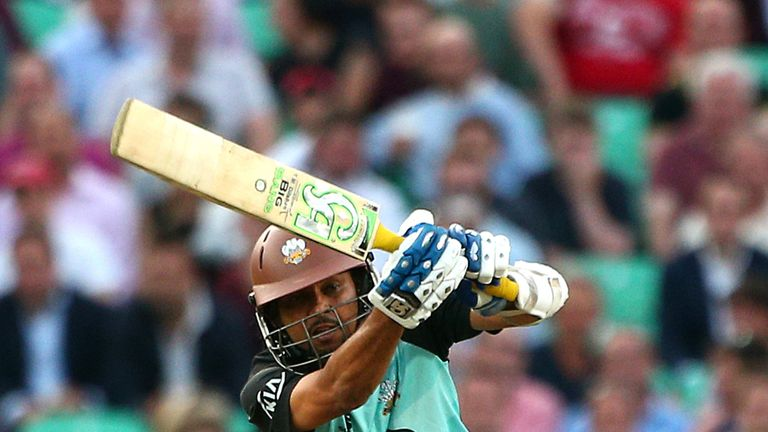 Tillakaratne Dilshan: top-scored for Surrey, making 36 at Cheltenham