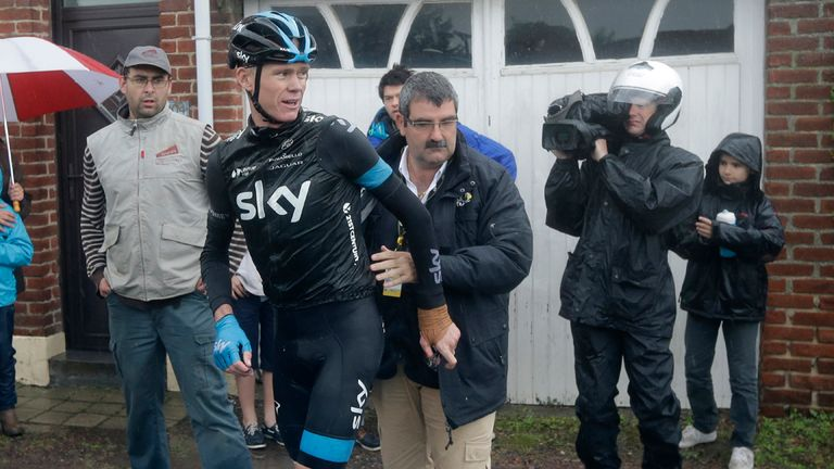 Chris Froome was forced to withdraw from the Tour de France after three crashes
