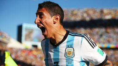 Angel di Maria: Forward celebrates scoring Argentina