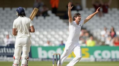 Alastair Cook: England captain celebrates the wicket of Ishant Sharma