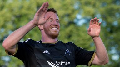 Adam Rooney: Helped Aberdeen to victory at Firhill