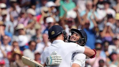 Joe Root and James Anderson: 198-run stand for England