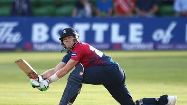 Sam Billings of Kent hits out during a Natwest T20 Blast match