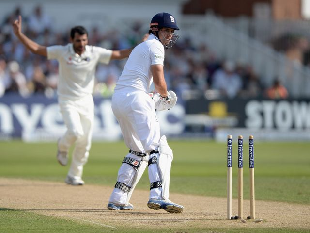Alastair Cook: Out for just five in England's reply