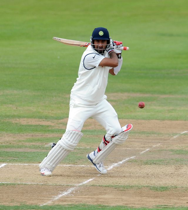 Cheteshwar Pujara: In action on day two