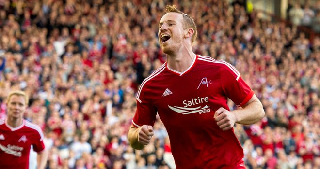 Adam Rooney: Scored twice on the night at Pittodrie
