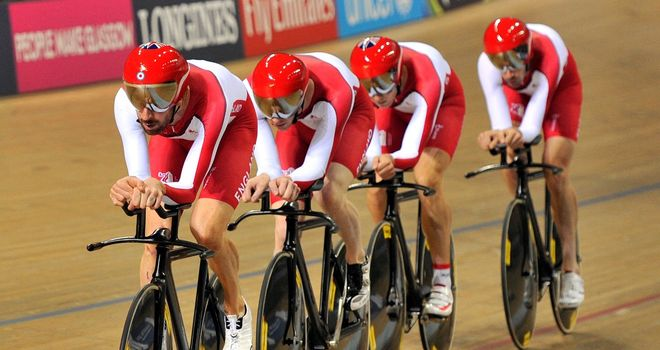 England claimed silver in the men's team pursuit in Glasgow